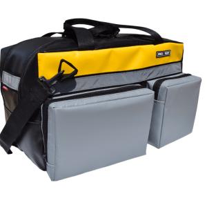 torba podróżna L BAG szaro żółta